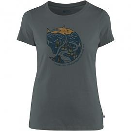 피엘라벤 우먼 아틱 폭스 프린트 반팔 티셔츠 Arctic Fox Print T-Shirt W (89849)