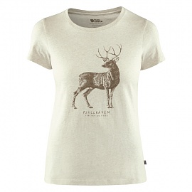피엘라벤 우먼 디어 프린트 반팔 티셔츠 Deer Print T-Shirt W (89879)